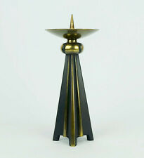 mid century CANDLE HOLDER brass black lacquered brass faber & schumacher 1950s