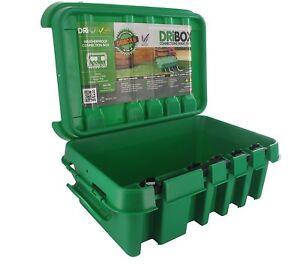 Dribox Weatherproof Enclosure Box Medium Green 285  for Outdoor Cables & Sockets
