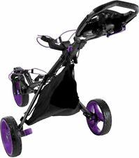 New PURPLE TRIM Tour Trek 360 3-Wheel Golf Push Cart W/ Bag PRICE GOOD THRU WED