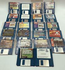 "Lot - 22 Commodore Amiga 3.5"" Floppy Disks From Magazines Amiga Format/Computing"