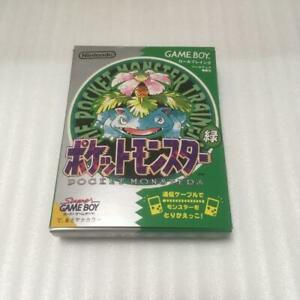 Nintendo Gameboy Pokemon Green Version Pocket monsters GB Japan With box Retro