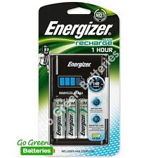 Energizer 1 Hour AA /AAA Charger + 4 AA 2300 mAh NiMH Rechargeable Batteries