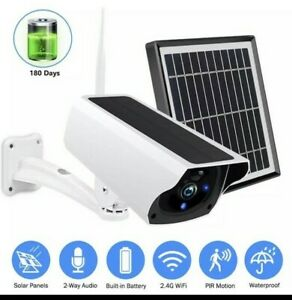Solar WiFi IP Camera 1080P HD Outdoor Charging Battery Wireless Security Motion