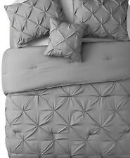 Vcny Home Carmen Ruched 3 Piece King Duvet Cover Set Grey $130