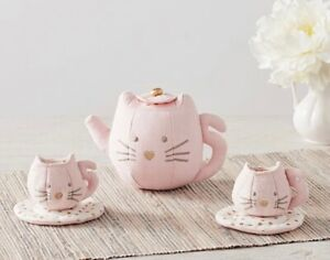Pottery Barn Kids Kitty Tea Set Age 3+