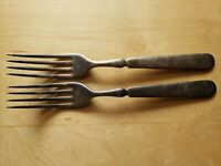 "2 Vintage Collectible ANTIQUE FORKS 7.5"",1847 ROGERS BROS"