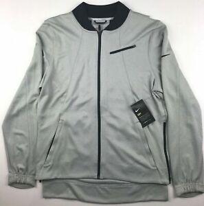 Nike Hyper Elite Mens Medium Gray Showtime Full Zip Basketball Jacket $125