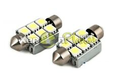2x 37mm C5W 6 SMD LED Festoon Interior Light Bulbs Error Free Canbus 12V