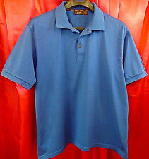 TASSO ELBA GOLF 100% Pima Cotton SS Polo Shirt Blue Black Stripe Chest 48    XL