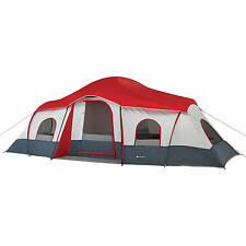 Camping Tent Cabin 10-Person All Weather Outdoor Family 3 Rooms Devider E-Port