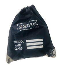 NEW DRAWSTRING BAG GYM BAG SCHOOL BACKPACK SPORTS, PE SCHOOL BAG SNEAKERS