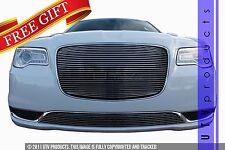 GTG 2015 - 2018 Chrysler 300 and 300C 2PC Polished Overlay Billet Grille Kit