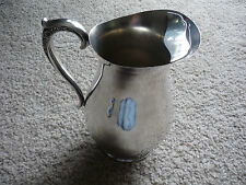 ANTIQUE SILVERPLATE WATER PITCHER W ICE GUARD/ ROGERS & BRO.