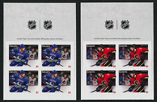 Canada 2670-6 Top Booklet panes MNH NHL - Hockey, Sports