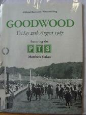 25/08/1967 Horse Racing: Racecard - Goodwood (Nicks, Half Of Back Page Removed)