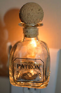 Patron Silver Mini Liquor Bottle Night Light
