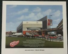 1997 Joe Louis Arena Red Wings LE Signed Lithograph