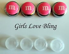 CUTE Pink M&M License Plate Screw Caps