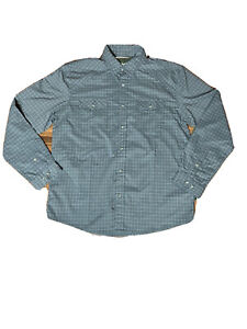 Howler Brothers Bros Size Medium Gray Button Shirt Long Sleeve Pockets Vented 🔥