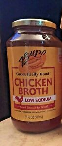 Organic Broth Chicken Stock Zoup! Low Sodium Shelf Stable Emergency Foods Zoup