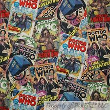 BonEful FABRIC Cotton Quilt VTG DR WHO Mystery Comic Book Patchwork Zombie SCRAP
