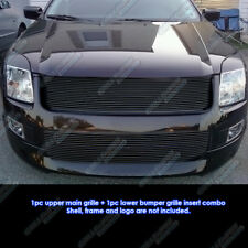 Fits 2006-2009 Ford Fusion Black Billet Grille Grill Combo Insert