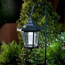 Solar Powered LED Shepherd Hanging Lantern Hook Garden Decoration