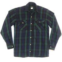 Codet Mens Vintage Flannel Shirt Size M Long Sleeve Button Up Multicolor Plaid