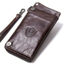 Men's Long Luxury Wallet Genuine Leather Cellphone Credit Card Holder Coin Purse