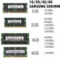 2GB 4GB DDR2 DDR3 667/800/1066/1333/1600 For Samsung Laptop Memory SODIMM DL