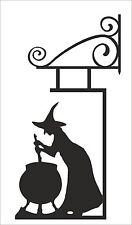 Witch Sign wall art matt black  - Harry Potter Halloween