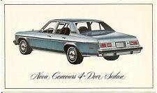 1976 Chevrolet Nova Concours 4-Door Sedan Automobile Advertising Postcard