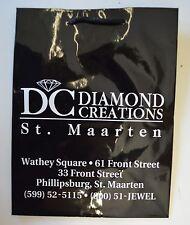 LOT 20 Vintage DC Diamond Creations St Maarten SMALL Shopping Bag  8 x 10 Black