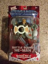 MOTU, Battle Sound He-man w VHS Video  2002, Masters of the Universe, MOC