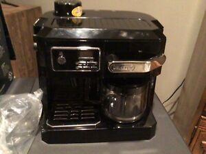 Delonghi BC0330T Combination Drip Coffee and Espresso Machine - Black