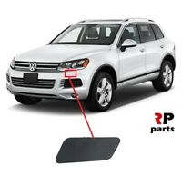FOR VW TOUAREG 2010 - 2014 NEW FRONT HEADLIGHT WASHER COVER CAP PRIMED LEFT N/S