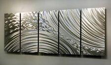 Modern Abstract Silver Metal Wall Sculpture Art Home Decor - Breaking Ground