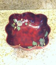 """MARUNI Made In Occupied Japan Metal Base 7"""" Lacquerware Bowl"""