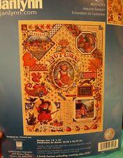 New ListingSandy Orton Autumn Sampler counted cross stitch kit Janlynn Sealed #023-0243 New
