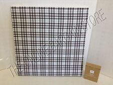 "Pottery Barn Teen Style Tile Fabric Pin Message Board 16"" SQ Williamsport Plaid"