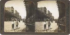 The Bowery New York USA Photo Stéréo Stereoview Vintage
