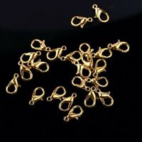 High quality jewelry finding Lobster Claw Clasps gold plated 50pcs free ship