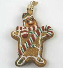 Gingerbread Man Ornament Glass Gingerbread Man Old World Christmas 32107 10