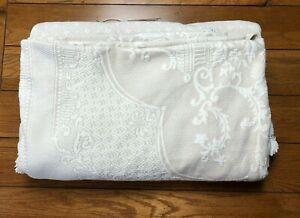 Maine Heritage Weavers Bates ABIGAIL ADAMS Matelasse QUEEN Bedspread Natural