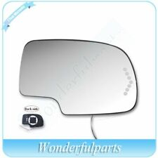 For 2003-07 Chevy Gmc Cadillac Mirror Glass Heated W/ Turn Signal Passenger Side