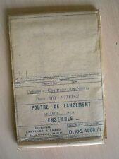 PONTE RIO NITEROI - 2 PLANS ORIGINAUX -DESSINS TECHNIQUES DE CONSTRUCTION - 1970