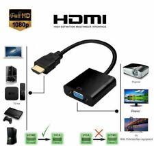 HDMI To VGA/SVGA 15-pin D-sub Female Convertor Adapter White HD 1080P Monitor TV
