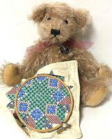 "Knickerbocker 11"" Bea Jointed Mohair Teddy Bear 1185 Sewing Cross Stitch Plush"