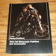 Original 1979 Harley-Davidson Fall Motorcycle Fashions & Accessories Brochure 79