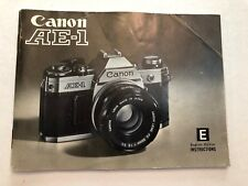 Canon Ae-1 camera Instructions Owners Manual Guide Book